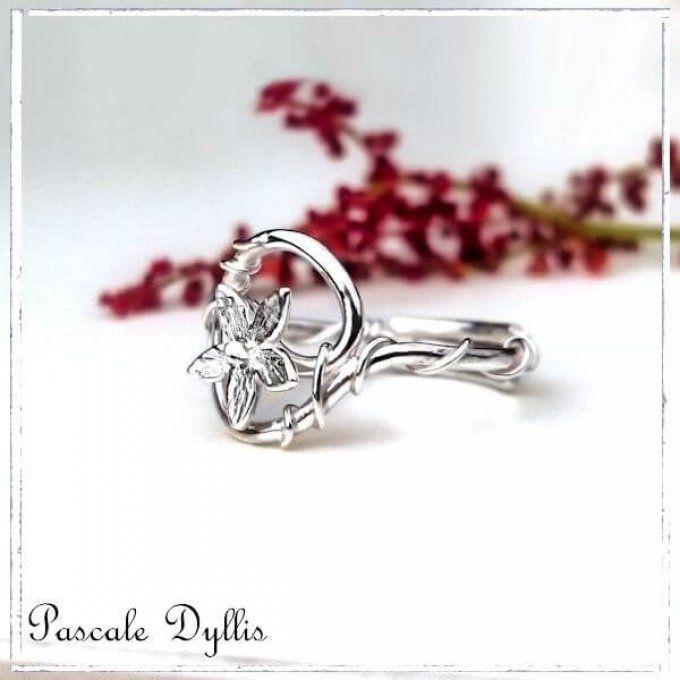 Bagues Fleurs Rose Argent Ou Or Massif Atelier Pascaledyllis Com