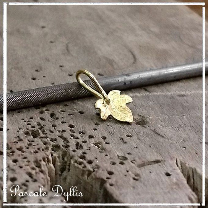 Pendentif lierre feuille or massif - LIEFE or
